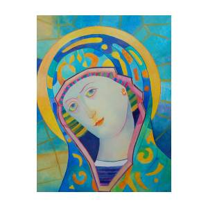 Virgin Mary Immaculate Conception Religious Painting Modern Catholic Icon By Magdalena Walulik