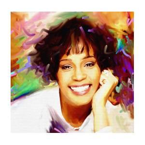 Celebrity Mask Modern Card Face Whitney Houston