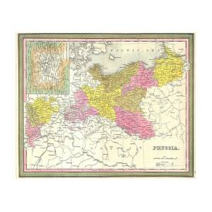 1850 Mitchell Map Of Prussia Germany Photograph By Paul Fearn