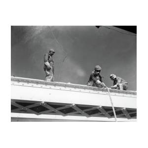 1930s Three Men Steel Workers by Vintage Images