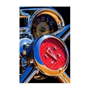 1953 hudson convertible steering wheel 2704c photograph by jill reger 1953 Lincoln Convertible 1953 hudson convertible steering wheel 2704c by jill reger