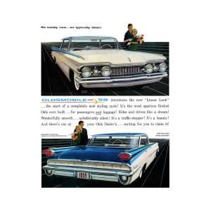 1959 Oldsmobile Ninety Eight Digital Art By Digital Repro Depot