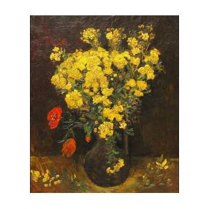 Poppy Flowers Also Vase With Viscaria Digital Art By Vincent Van Gogh