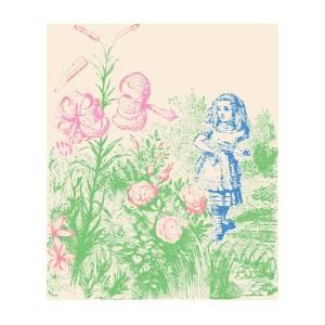 Alice In Wonderland Flowers Drawing By
