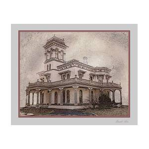 Bidwell Mansion Chico California Painting By David Lee