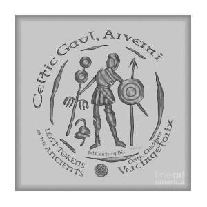 Celtic Vercingetorix Coin Mixed Media by Kristen Fox
