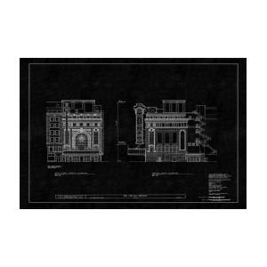 Chicago theatre blueprint 4 photograph by andrew fare chicago theatre blueprint 4 by andrew fare malvernweather Gallery