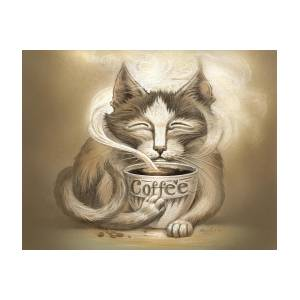 Coffee Cat Painting By Jeff Haynie