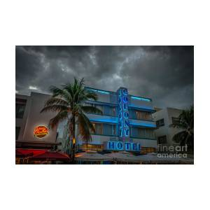 Colony And Johnny Rockets Art Deco District Sobe Miami - Hdr Style by Ian  Monk