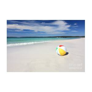 Beach ball in ocean Pool Party Colourful Beach Ball On The Seashore By The Ocean By Leahanne Thompson Caters News Agency Colourful Beach Ball On The Seashore By The Ocean Photograph By Leah
