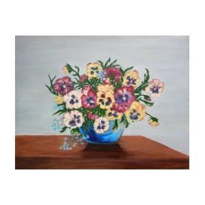 croud of pansies painting by matilda compton mcleod