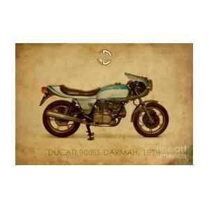 Ducati 900ss Darmah 1979 Mixed Media By Drawspots Illustrations