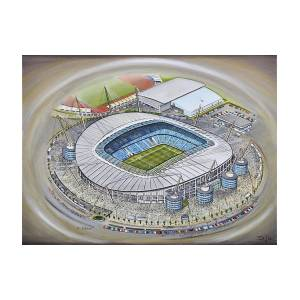 67a8a2fcb Etihad Stadium - Manchester City Painting by D J Rogers