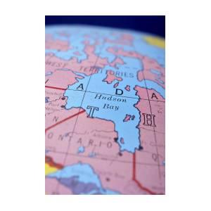 Global Map Hudson Bay by Donald Erickson