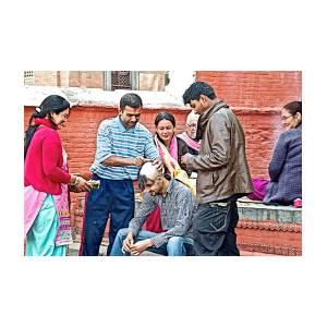 Head Shaving Ceremony At Hindu Festival Of Ram Nawami In Kathmandu-nepal by  Ruth Hager