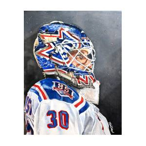 Henrik Lundqvist New York Rangers Painting By Michael Pattison