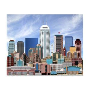 indianapolis indiana skyline digital art by dave lee