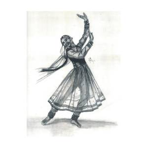 Kathak Dancer Drawing By Bobby Dar