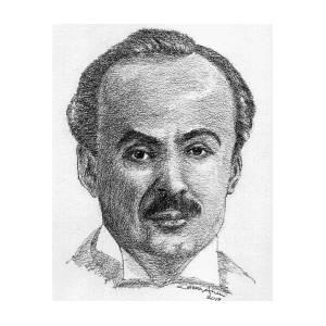 Khalil Gibran Drawing By Salman Ameer