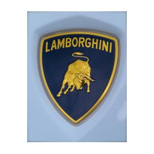 Lamborghini Car Badge Photograph By John Colley