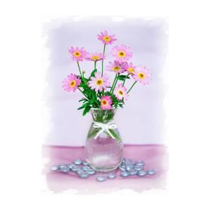 Little pink flowers in a vase photograph by natalie kinnear little pink flowers in a vase by natalie kinnear mightylinksfo