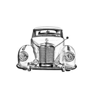 Mercedes Benz 300 Luxury Car Drawing Photograph By Keith Webber Jr
