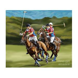 8dd7208f97eb Polo Game Horses Painting by Tim Gilliland