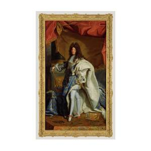 812735cde44 Portrait Of Louis Xiv After Hyacinthe Rigaud Painting by Litz Collection