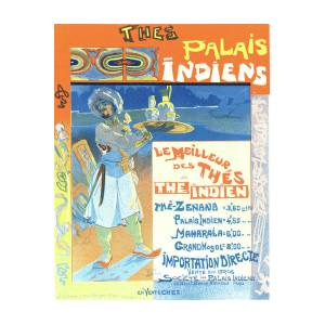 Poster Indien poster for les thés du palais indien drawingliszt collection