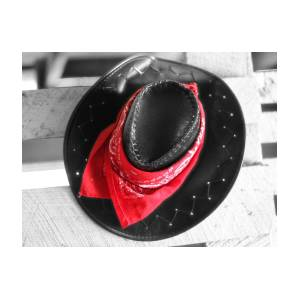 7e6bc7a55 Red Bandana And Cowboy Hat by Dan Sproul