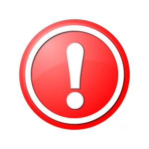 Image result for red exclamation point small