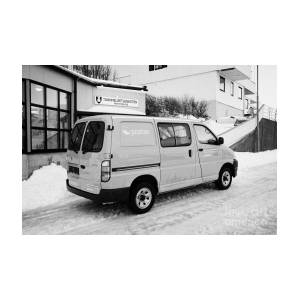 f2715820e6f9b6 Red Norwegian Post Collection Delivery Hiace Van Vehicle Norway Europe by Joe  Fox