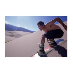 Sandboarding Snowboarding On Sand Dunes by Mark F  Twight