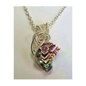 Bismuth Crystal Necklace