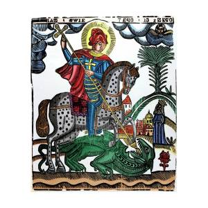 St George Killing The Dragon Photograph by Universal History ...