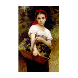 The Grape Picker by Wm Bouguereau Old Masters Print