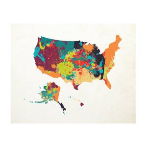 United States Map Art Digital Art By World Art Prints And Designs