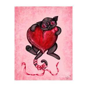 Valentine Kitty Digital Art By Coriander Shea