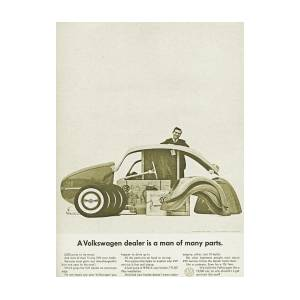 Vw Beetle Advert 1962 - A Volkswagen Dealer Is A Man Of Many Parts