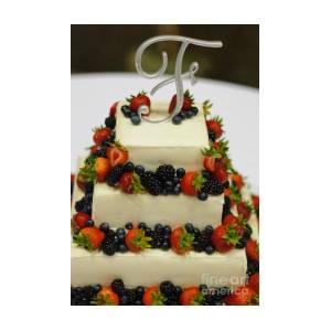 Wedding Cake With Fruit Photograph By Paul Sisco