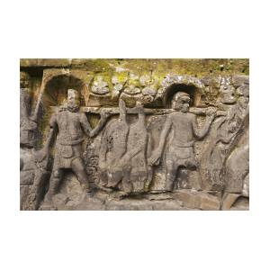 Yeh pulu hindu relief carvings photograph by john elk iii