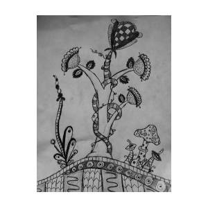 Zentangle Plants Drawing By Olivia Buddington