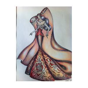 abstract art fashion drawing by natasha russu