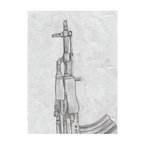 Ak 47 Drawing By Caleb Figura
