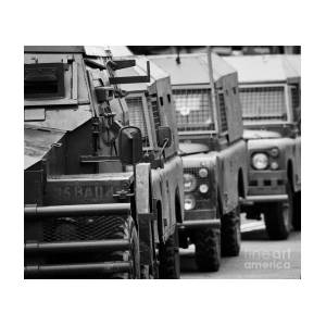f90cf3b4a7 British Army And Ruc Vehicles Landrovers Belfast Northern Ireland by Joe Fox