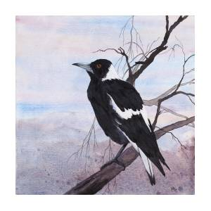Call Of The Magpie Painting by Carol McLagan