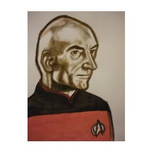 Captain Picard Painting Painting by Jeremiah Cook