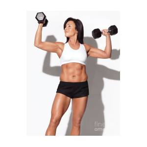 Portrait Of A Fitness Woman With Dumbbells By Maxim Images Prints