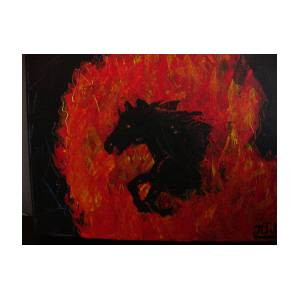 Cheval De Feu Painting By Jean Christophe Trahan