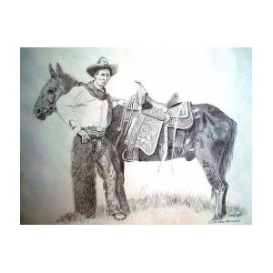 Tom Three Persons Calgary Stampede 1912 Drawing By Cat